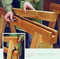 #1027 Replaceable Inserts Save Sawhorses