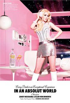 Ellen von Unwerth for Absolut Vodka, you gotta love it!