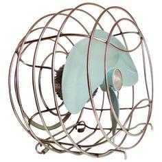 Mid-century modern Westinghouse ball fan