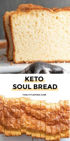 Soul bread is a moist, fluffy delicious low carb white bread that is truly simple to make and nothing short of decadent yumminess. #lowcarbsoulbread #soulbread Lowest Carb Bread Recipe, Low Carb Bread, Keto Bread, Protein Bread, Easy Bread Recipes, Low Carb Recipes, Diet Recipes, Healthy Recipes, Healthy Food