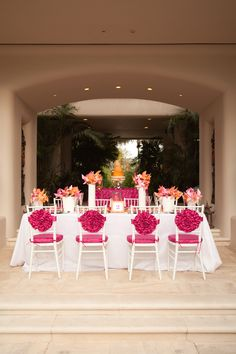 Rosette chair covers
