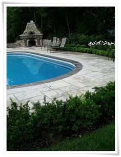 Backyard Pool Landscape Ideas..I want the fire place back there