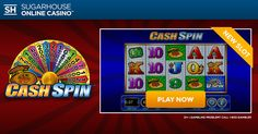 Cash in with Cash Spin! Play the ALL NEW Cash Spin TODAY at !  #cashspin #slots #onlinecasino #newjersey #fun #play #win #games #passgo #new #moregames #morefun #sugarhouse #winning #spin #fridayfeature