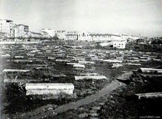 Pangalti Surp Hagop Ermeni mezarligi, 1930lar. Hilton, Divan Hotel ve radyo evinin insa edildigi arazi.