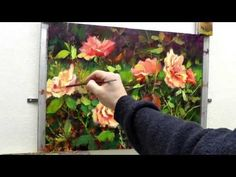 Learn to Paint Roses - Oil Painting 'Sweet Summer Days' Roses Fast Motion - YouTube