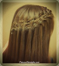 Pretty waterfall braid variation. Double woven micro braids.
