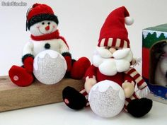 Christmas Deco, Christmas Ornaments, Navidad Diy, Diy Weihnachten, Snowman, Projects To Try, Santa, Merry, Holiday Decor