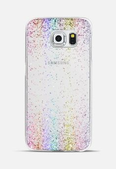 Rainbow Sparkly Glitter Burst Galaxy S6 Edge Case by Organic Saturation | Casetify