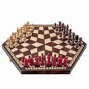 Сувениры и подарки ручной работы. Ярмарка Мастеров - ручная работа Шахматы на троих большие. Handmade.