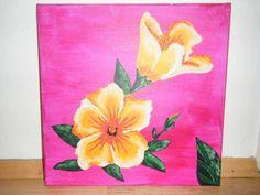 Dieses tolle Blumenbild hat Lisa gemalt. Mehr zur Maltechnik und Farben erfährst du hier. Super, Pineapple, Lisa, Inspiration, Fruit, Hibiscus, Flower Paintings, Paint Techniques, Gift Cards