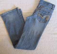 Bongo Heavy Distressed Girls Jeans Size 10 #Bongo #ClassicStraightLeg #Everyday