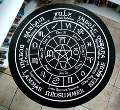 Old World Pagan Wheel of the Year Altar - Tarot Reading Table – Cast a Stone