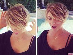 Breaking Hair News: Kaley Cuoco Chops Off All Her Hair!