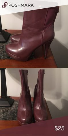 Burgundy Size 9 Shoedazzle Booties Burgundy Size 9 Shoedazzle Booties shoedazzle Shoes Ankle Boots & Booties