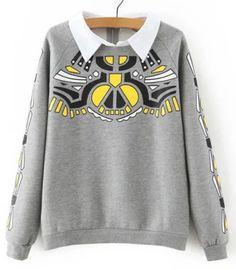 Fashionable Women's Long Sleeve Print Sweatshirt