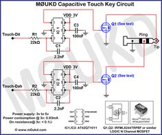 Capacitive CW Touch Key Circuits | M0UKD Amateur Radio Station Information Page
