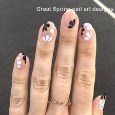 20 Great Spring Nail Designs 2019 – Darcy's - Nails Desing Spring Nail Colors, Spring Nail Art, Spring Nails, Summer Nails, Best Nail Art Designs, Nail Designs Spring, Nail Art Jaune, Plain Nails, Formal Nails
