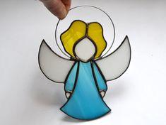 Cute Little Angel Turquoise Blue Angel Ornament Guardian