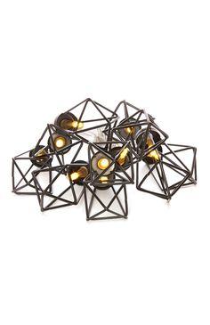 10 LED Black Metal Lights