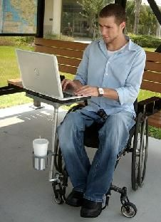 wheelchair table and cup holder