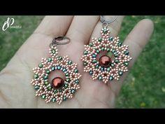 (96) Easy to make Flower Earrings or Pendant | How to make beaded earrings | DIY jewelry tutorial. - YouTube Seed Bead Tutorials, Diy Jewelry Tutorials, Diy Jewelry Making, Beading Tutorials, Jewelry Ideas, Beaded Earrings Patterns, Diy Earrings, Flower Earrings, Flower Jewelry