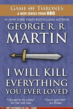 George R. R. Martin's Next Book.