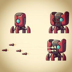 Enemy design for BulletAge. #gamedev #cintiq #photoshop #indie