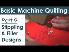 ▶ Stippling and Filler Patterns on Your Home Sewing Machine Free Motion Quilting - YouTube