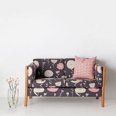 Fabric by the metre - Wild Flowers (want to have euro shams made with this beautiful skinny laminx fabric)