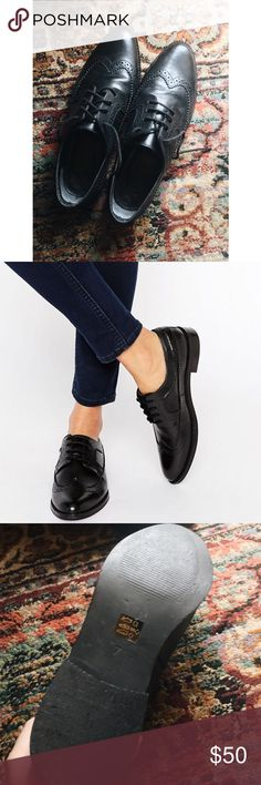 ASOS MAI leather brogues Black leather women's brogues from ASOS. Only worn a few times, not many signs of wear. UK size 7 US size 9 ASOS Shoes