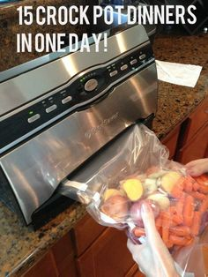 15 dinners in the freezer for the crock pot! Grocery list & how to included!