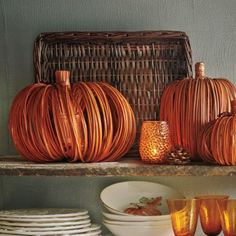 Decorative Grass Pumpkin, available at #surlatable