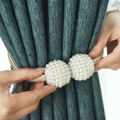 1x Pearl Magnetic Curtain Clip Curtain Holders Tieback Buckle Clips Hanging Ball Buckle Tie Back Curtain Accessories Home Decor 24000+ orders #Pearl #Magnetic #Curtain #Clip #Home #Decor #Holder #Hanging #Ball #Rope #Room #Accessories #ad