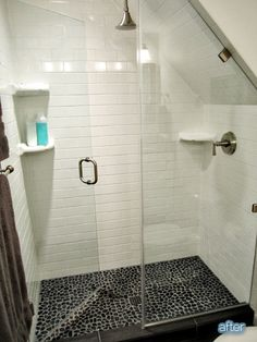 I m in love with this shower! sound here: http://www.betterafter.net/2013/07/putting-fun-in-functional.html