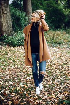 45 Stylish Camel Coat Outfit Ideas to Copy Right Now luv this jeans shirt camel everything is good about this look