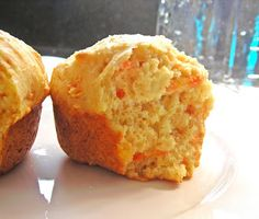 Gingered Carrot Cornmeal Muffins
