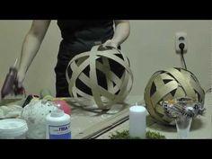 Большие новогодние шары из полосок картона - YouTube