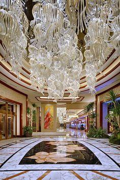 Solaire resort and casino bespoke lighting insta Casino Party Decorations, Light Decorations, Chandeliers, Glass Chandelier, Interior Decorating, Interior Design, Light Installation, Beautiful Interiors, Lighting Design