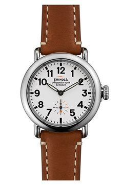 56cf09ff164e Free shipping and returns on Shinola  The Runwell  Leather Strap Watch