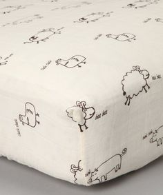 Look what I found on #zulily! Natural Farm Animal Organic Muslin Fitted Crib Sheet #zulilyfinds