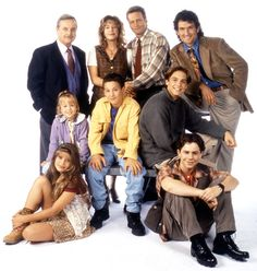 Boy Meets World Top row: Williams Daniels, Betsy Randle, William Russ, and Anthony Tyler Quinn Middle row: Lily Nicksay, Ben Sav. Boy Meets World Cast, Girl Meets World, Cory Matthews, Riley Matthews, William Daniels, Rider Strong, Cory And Topanga, Ben Savage, Girls Girls Girls