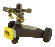 Nelson Metal Head Pulsating Sprinkler on Rezimar Wheel Base 50260 * Want additional info? Click on the image.