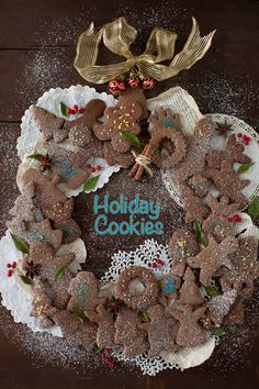 Chocolate — Coffee Christmas Cut-out Cookies