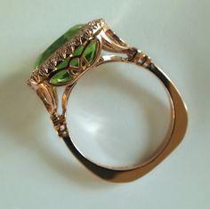 Dalben Peridot Diamond Rose Gold Ring image 7