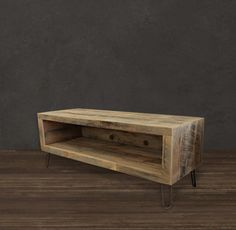 Small Console, Reclaimed Wood Media Entertainment Stand modern media storage