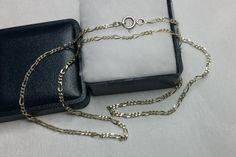 Vintage Halsschmuck - Figarokette Halskette L 40,5 cm Silberkette SK405 - ein…