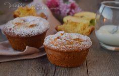 Muffin con mele e yogurt sofficissimi senza burro e olio, ideali a colazione e merenda, genuini profumati e delicati, si preparano in poco tempo