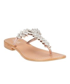Take a look at this Rose Gold Tiarra Sandal by Matisse on #zulily today!