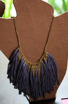 leather tassels necklace