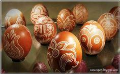 Varázspor: Karcolt hímes tojások, tojások a zengővárkonyi tojásmúzeumból